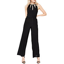 Buy Miss Selfridge Slinky Cutout Jumpsuit, Black Online at johnlewis.com