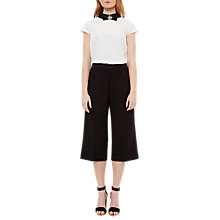Buy Ted Baker Oderat High Waisted Culottes, Black Online at johnlewis.com
