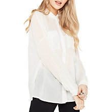 Buy Miss Selfridge Casual Shirt, Ivory Online at johnlewis.com