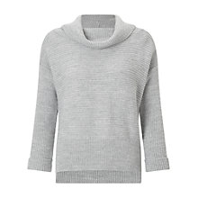 Buy Miss Selfridge Petite Cowl Neck Jumper, Grey Online at johnlewis.com
