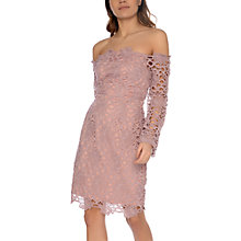 Buy True Decadence Lace Bardot Dress, Dusty Pink Online at johnlewis.com
