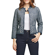 Buy East Tile Print Quilted Jacket, Navy Online at johnlewis.com