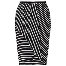 Buy Miss Selfridge Stripe Wrap Skirt, Black/Multi Online at johnlewis.com