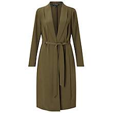 Buy Miss Selfridge Channel Duster Coat, Khaki Online at johnlewis.com