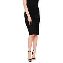Buy Miss Selfridge Cornelli Skirt, Black Online at johnlewis.com