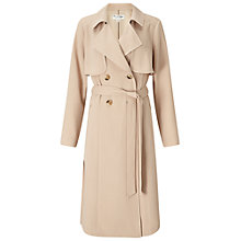 Buy Miss Selfridge Crepe Mac, Camel Online at johnlewis.com