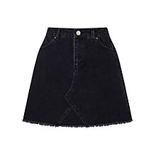 Buy Miss Selfridge Authentic Denim Skirt, Black Online at johnlewis.com