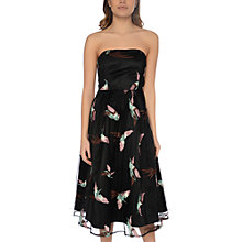 Buy True Decadence Strapless Embroidered Midi Dress, Pastel Bird Online at johnlewis.com