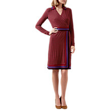 Buy Hobbs Frida Dress, Raspberry/Multi Online at johnlewis.com