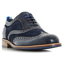 Buy Dune Pudsey Leather and Suede Oxford Brogues Online at johnlewis.com