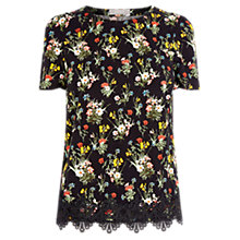 Buy Oasis Spring Bouquet T-Shirt, Black/Multi Online at johnlewis.com