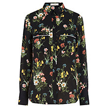 Buy Oasis Winter Bouquet Shirt, Black/Multi Online at johnlewis.com