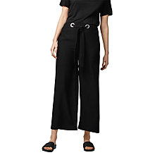 Buy Warehouse Eyelet Trousers, Black Online at johnlewis.com