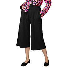Buy Warehouse Crepe Culottes, Black Online at johnlewis.com