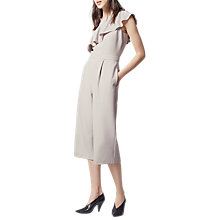 Buy Warehouse Asymmetric Ruffle Jumpsuit, Light Grey Online at johnlewis.com