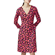 Buy Warehouse Poppy Print Wrap Dress, Multi Online at johnlewis.com