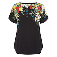 Buy Oasis Winter Bouquet T-Shirt, Black/Multi Online at johnlewis.com
