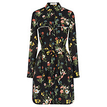 Buy Oasis Winter Lilly Shirt Dress, Black/Multi Online at johnlewis.com