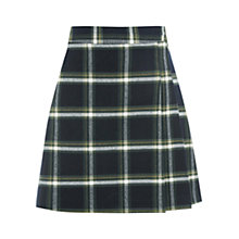 Buy Oasis Grid Check Poppy Kilt Skirt, Green/Multi Online at johnlewis.com