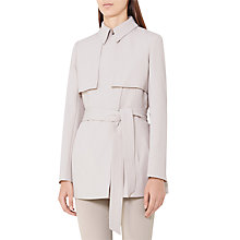 Buy Reiss Lester Cropped Trench Coat, Chiffon Online at johnlewis.com