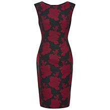Buy Hobbs Pia Dress, Red/Black Online at johnlewis.com