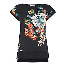 Buy Oasis Oriental Vine Top, Black/Multi Online at johnlewis.com