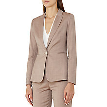 Buy Reiss Turner Tailored Jacket, Burnt Rose Online at johnlewis.com