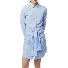 Buy Warehouse Tie Waist Shirt Dress, Light Blue Online at johnlewis.com