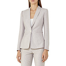 Buy Reiss Virginia Blazer, Pink Grey Online at johnlewis.com