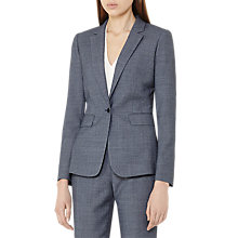 Buy Reiss Russell Textured Tailored Jacket, Dark Blue Online at johnlewis.com