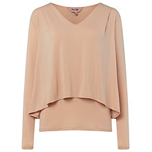 Buy Phase Eight Dee Double Layer Top, Dusty Pink Online at johnlewis.com