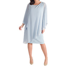 Buy Chesca Chiffon Layer Bead Shoulder Dress, Aqua Online at johnlewis.com