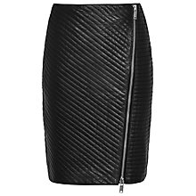 Buy Reiss Azure Quilted Pencil Skirt, Black Online at johnlewis.com
