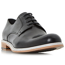 Buy Dune Pacific Leather Shoes, Black Online at johnlewis.com