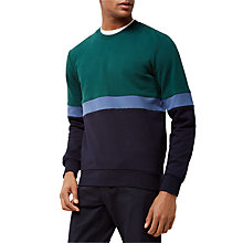 Buy Jaeger Colour Block Sweatshirt, Green Online at johnlewis.com