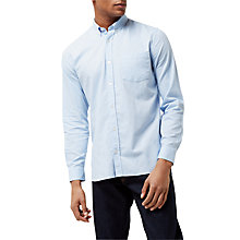 Buy Jaeger Soft Touch Oxford Shirt, Light Blue Online at johnlewis.com