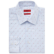 Buy HUGO by Hugo Boss Cenzo Dobby Stripe Regular Fit Shirt, Light Blue Online at johnlewis.com