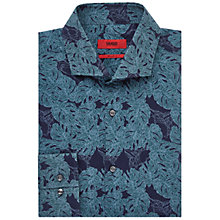 Buy HUGO by Hugo Boss C-Jason Leaf Print Slim Fit Shirt, Green Online at johnlewis.com