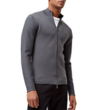 Buy Jaeger Merino-Blend Double-Faced Zip Jumper, Flint Blue Online at johnlewis.com