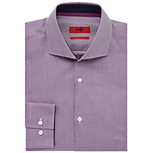 Buy HUGO by Hugo Boss Jery Dobby Slim Fit Shirt, Purple Online at johnlewis.com