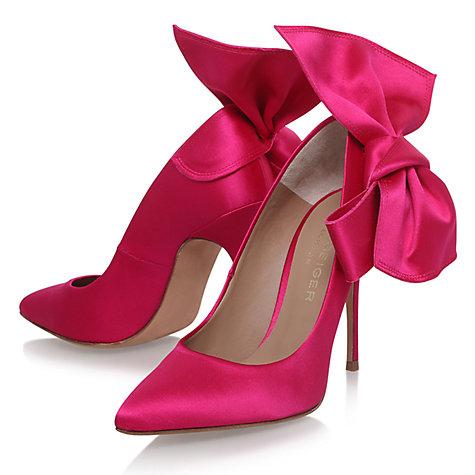 buy kurt geiger evie high heel court shoes pink satin