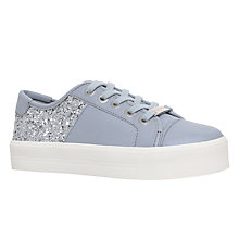 Buy Carvela Louise Sequin Lace Up Trainers, Grey Mixed Online at johnlewis.com