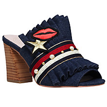 Buy KG by Kurt Geiger Mistres Block Heeled Mule Sandals, Denim Online at johnlewis.com