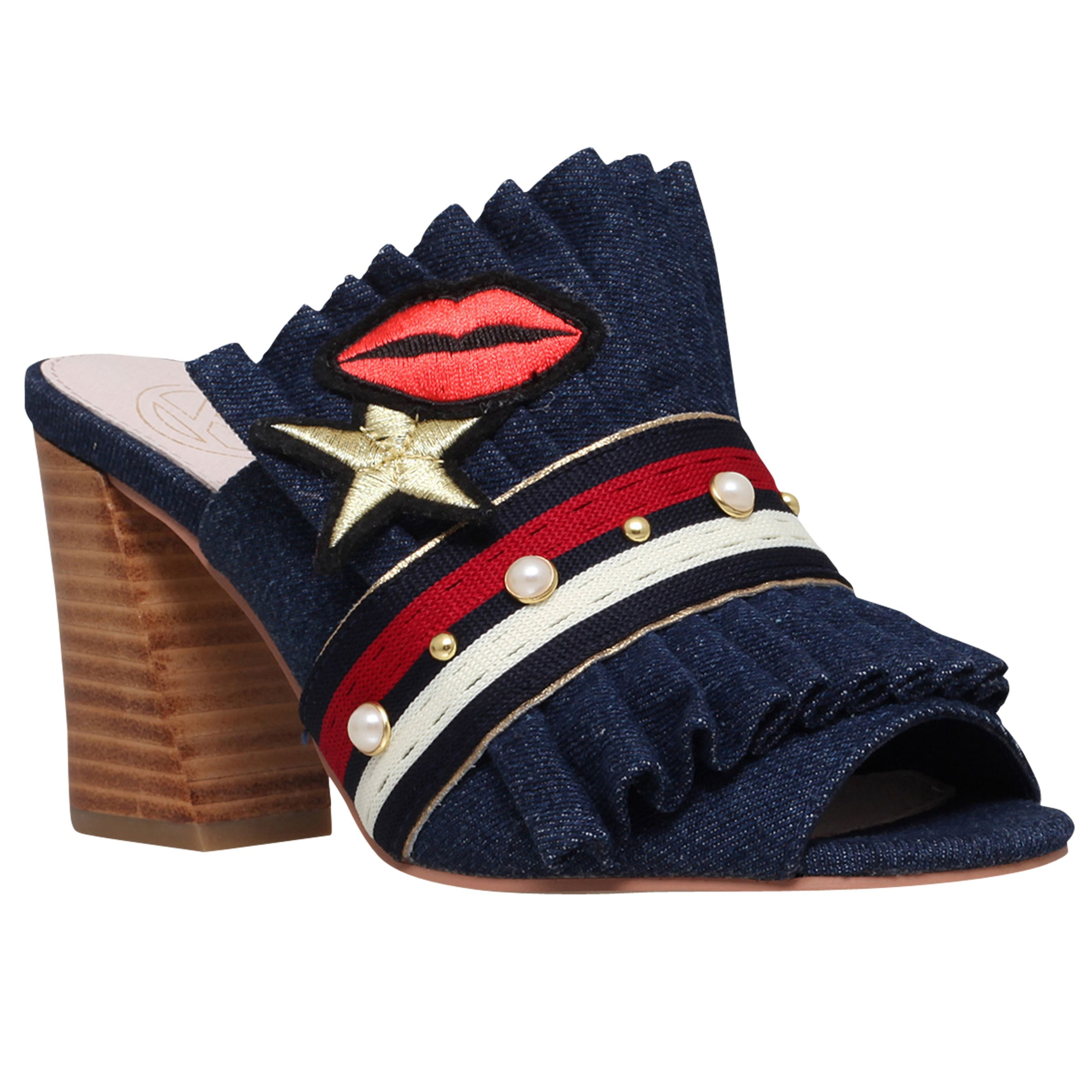 KG by Kurt Geiger KG by Kurt Geiger Mistres Block Heeled Mule Sandals, Denim