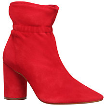Buy KG by Kurt Geiger Raglan Block Heeled Ankle Boots, Red Online at johnlewis.com