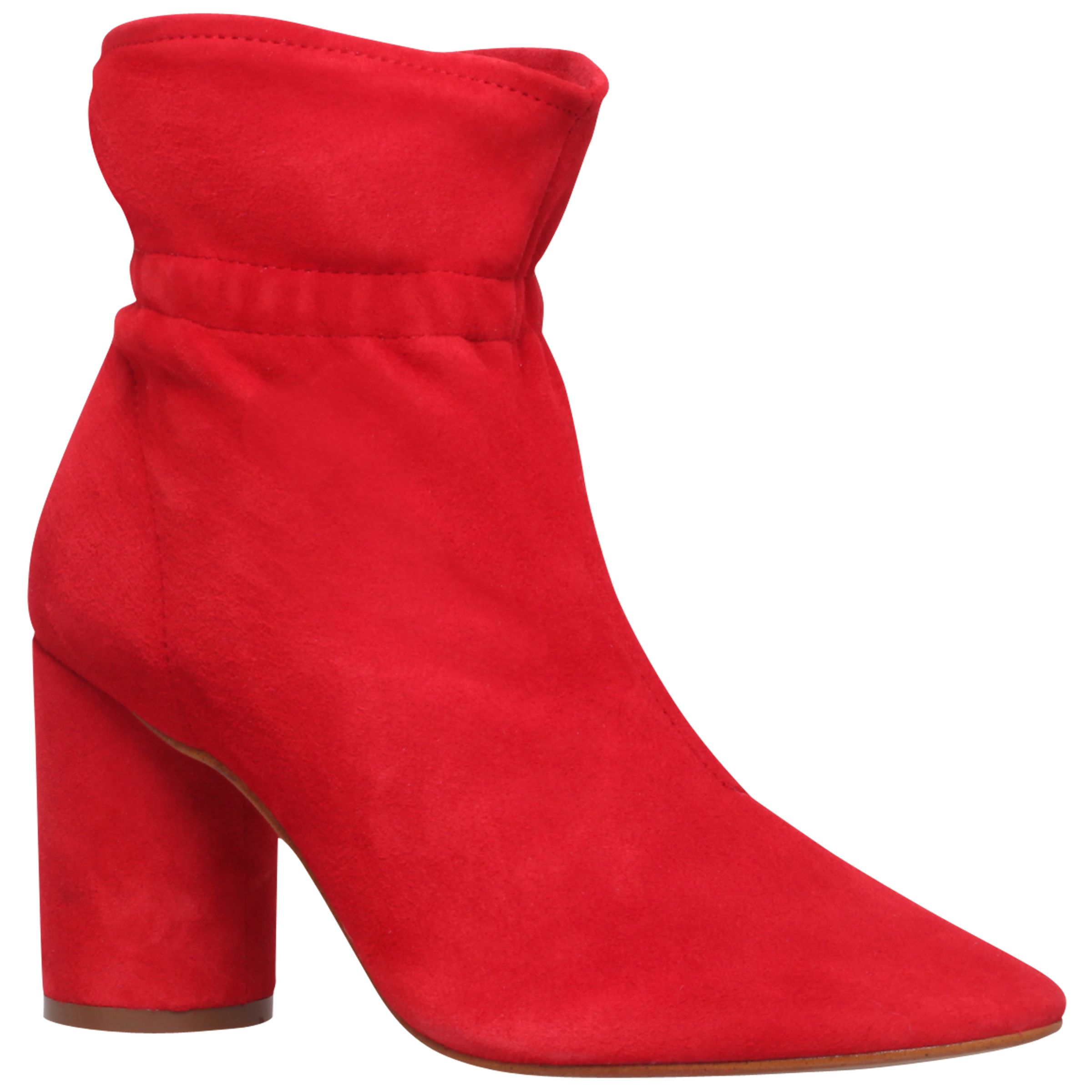 KG by Kurt Geiger KG by Kurt Geiger Raglan Block Heeled Ankle Boots, Red