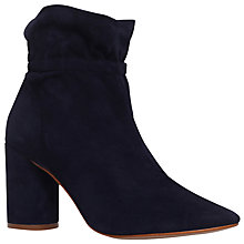 Buy KG by Kurt Geiger Raglan Block Heeled Ankle Boots, Navy Online at johnlewis.com