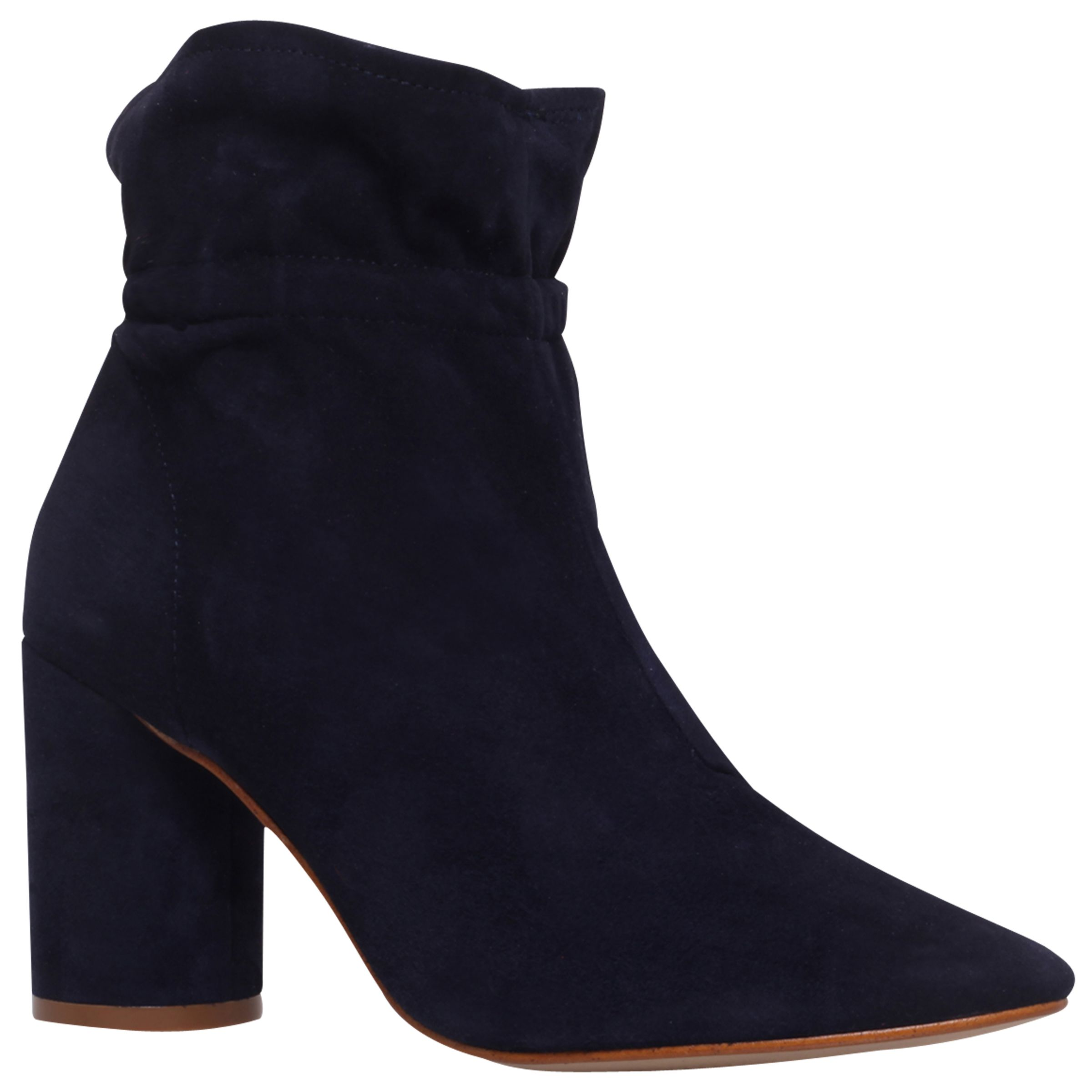 KG by Kurt Geiger KG by Kurt Geiger Raglan Block Heeled Ankle Boots, Navy
