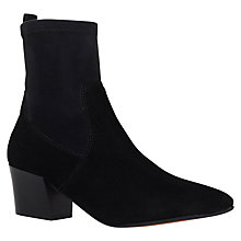 Buy Carvela Silk Block Heeled Ankle Boots, Black Online at johnlewis.com