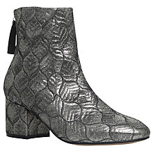 Buy Carvela Slim Block Heeled Ankle Boots, Silver Online at johnlewis.com
